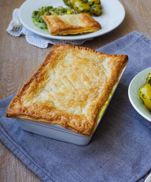 Wild Garlic & Spring Veg Pot Pie by Euphoric Vegan.