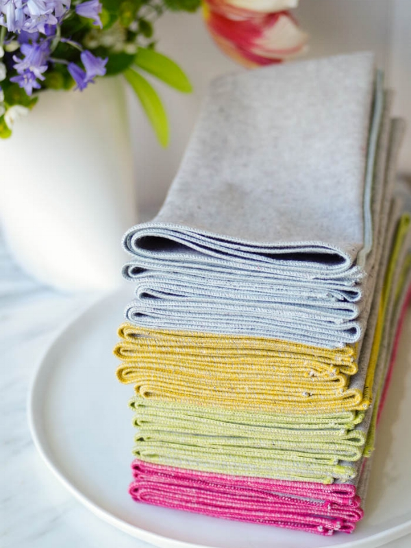 Heathered Napkins by Beautiful Ingredient.  Organic Fabrics.