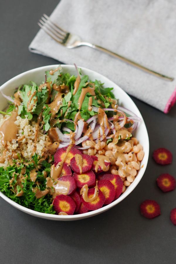 Easy Tahini Buddha Bowl by Beautiful Ingredient