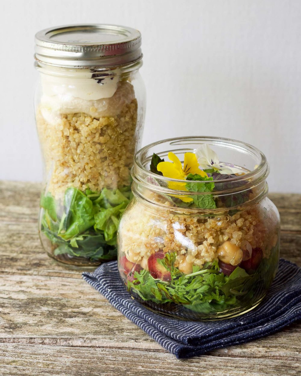 Easy Salad to Go with Quick Vinaigrette by Beautiful Ingredient