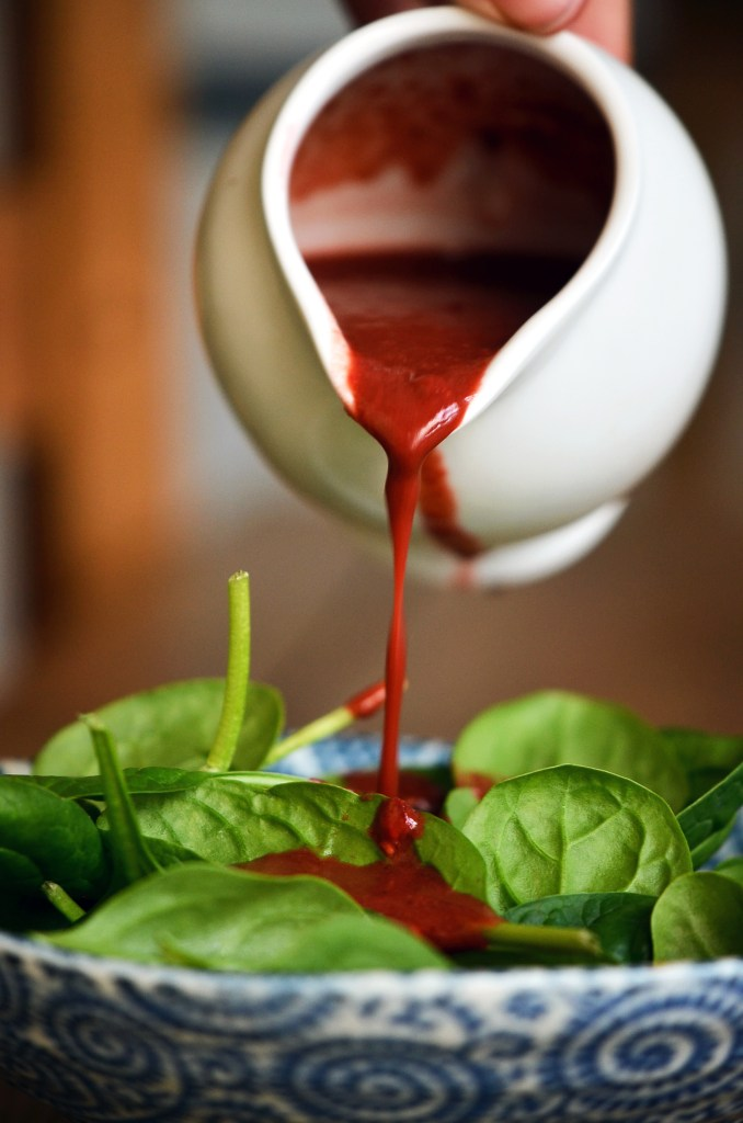 Raspberry Balsamic Dressing by The Hungry Herbivores