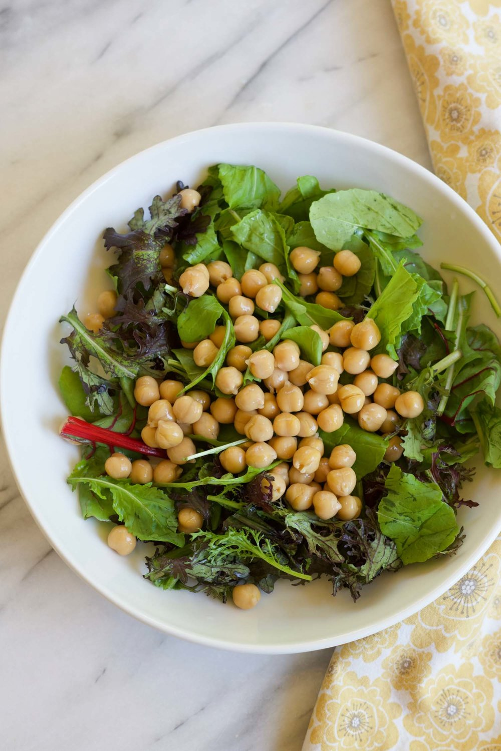 greens+garbanzos