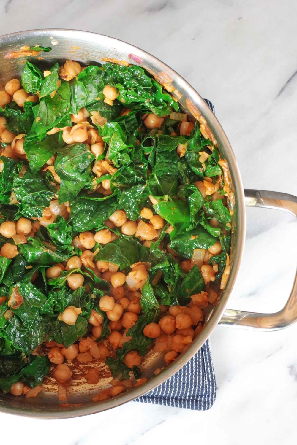 Smoky Kale and chickpeas from  Bold Flavored Vegan Cooking ..  Photo by Beautiful Ingredient.