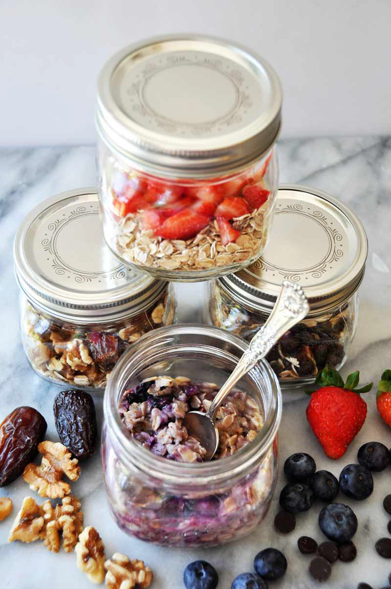 Homemade Flavored Vegan Instant Oatmeal - Four Flavors! by Veganosity