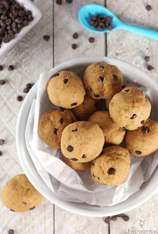 Vegan Cookie Dough Protein Balls, by V Nutrition & Wellness