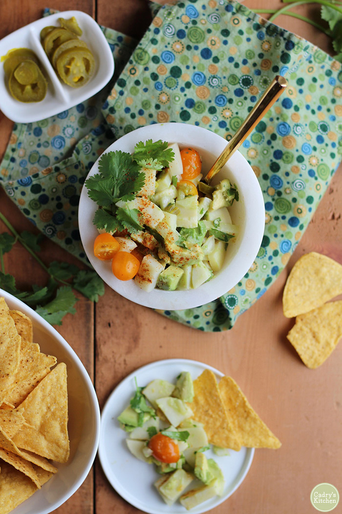 Vegan Ceviche & Hearts of Palm, by Cadry's Kitchen