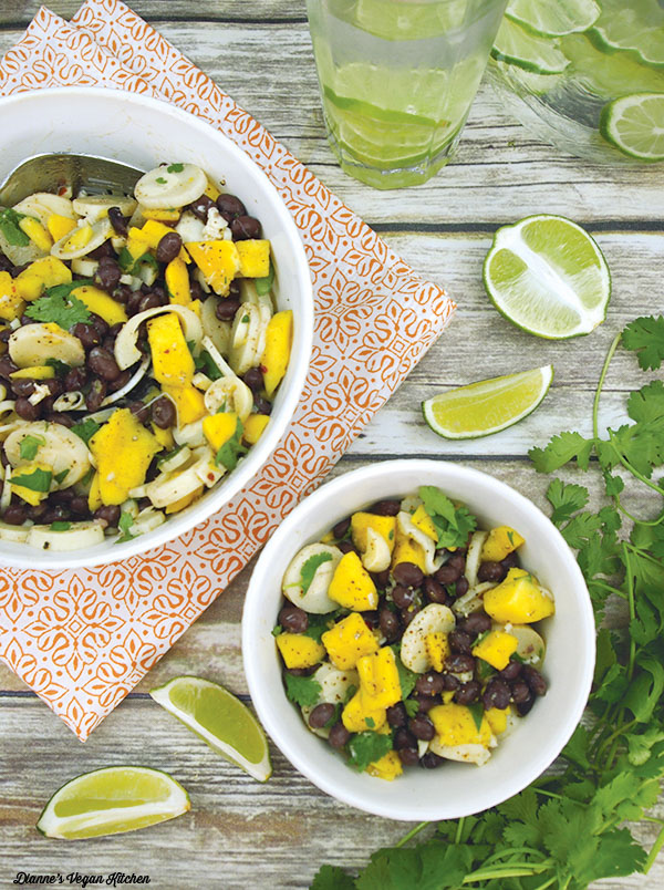Vegan Black Bean Mango Salad, by Dianne's Vegan Kitchen