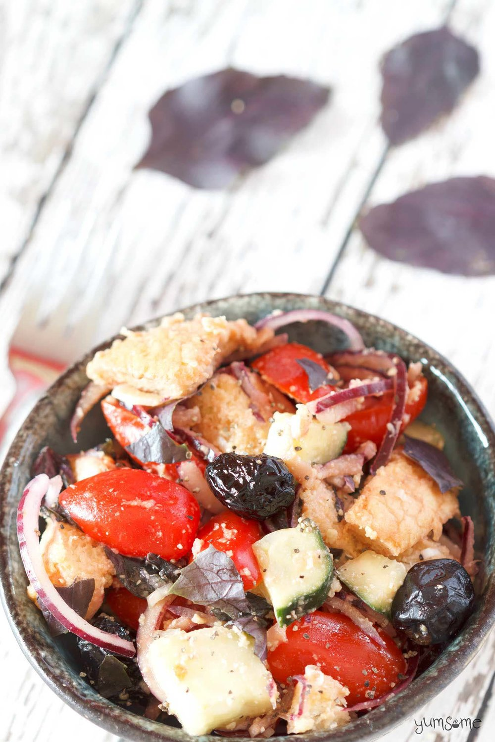 Simple Vegan Panzanella, by Yumsome