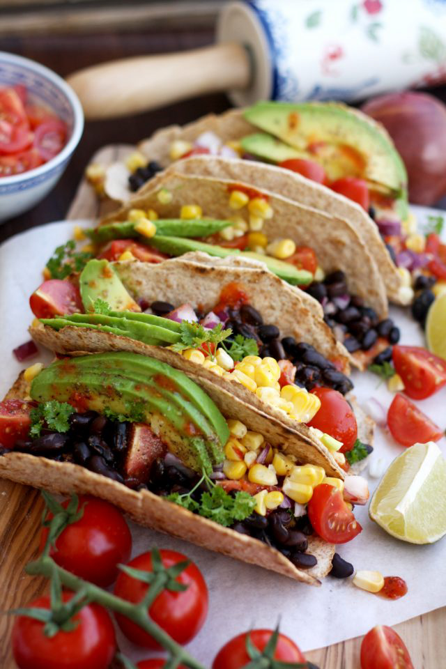5 Minute Vegan Tacos, by Happy Kitchen. Rocks