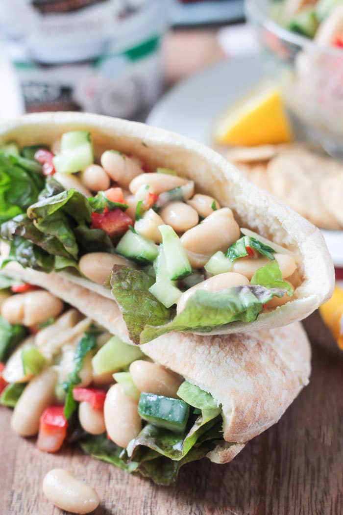 Easy Vegan White Bean Salad Sandwich, by Veggie Inspired