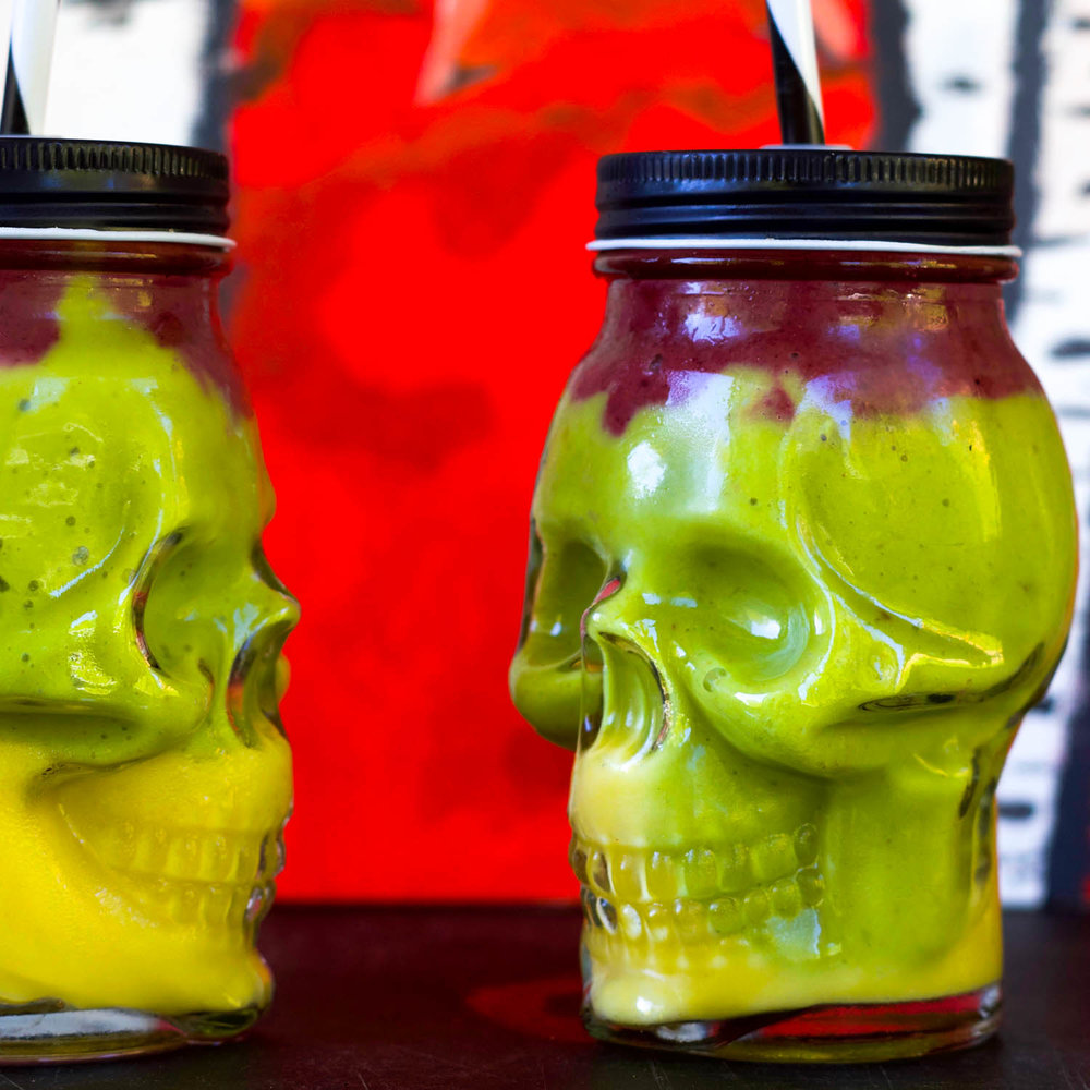 Colorful Halloween SMoothies, by Beautiful Ingredient