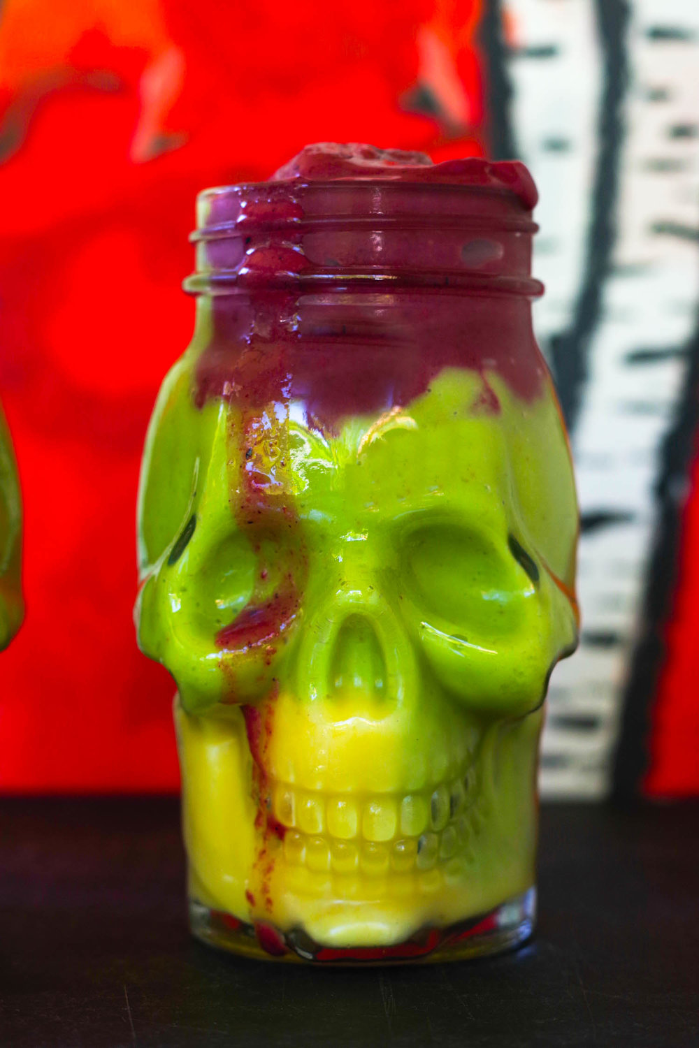 Easy Colorful Halloween Smoothies | refined sugar-free By Beautiful Ingredient