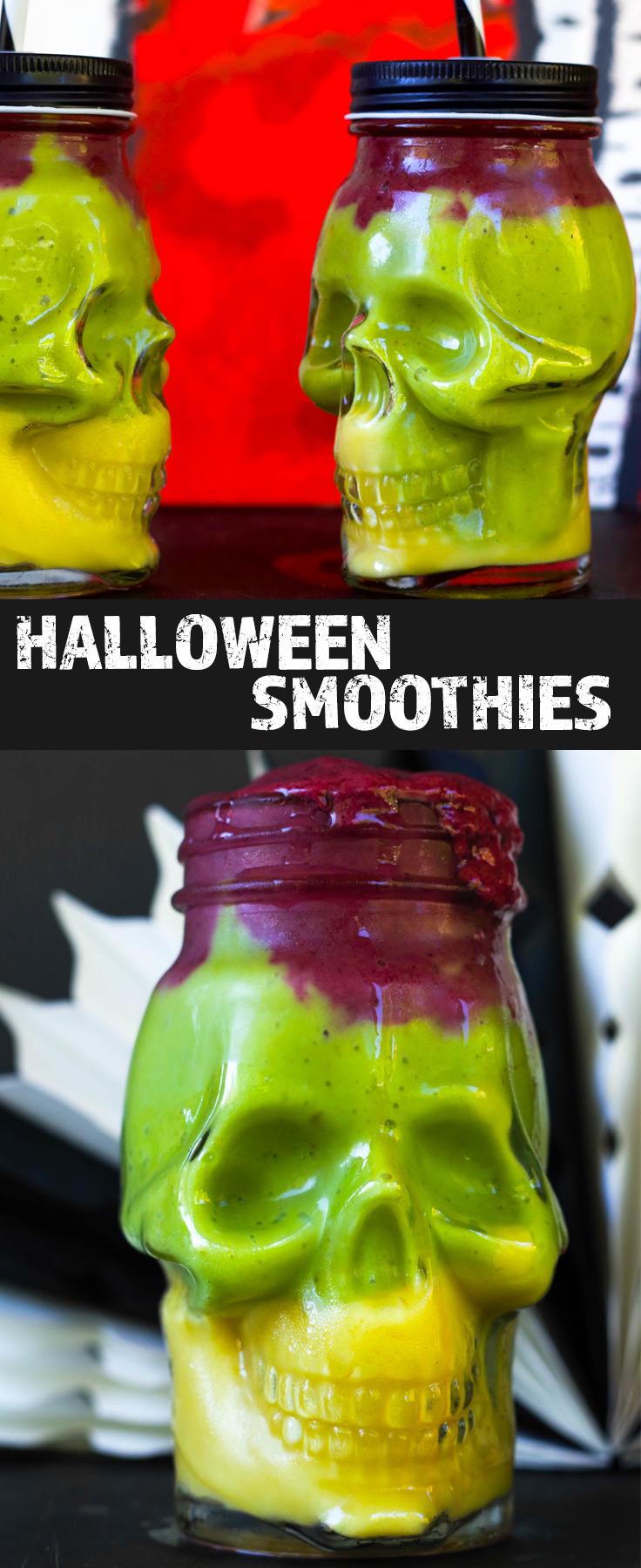 Easy Colorful Halloween Smoothies | Orange, GReen, Purple | Vegan | Refined Sugar-free By Beautiful Ingredient