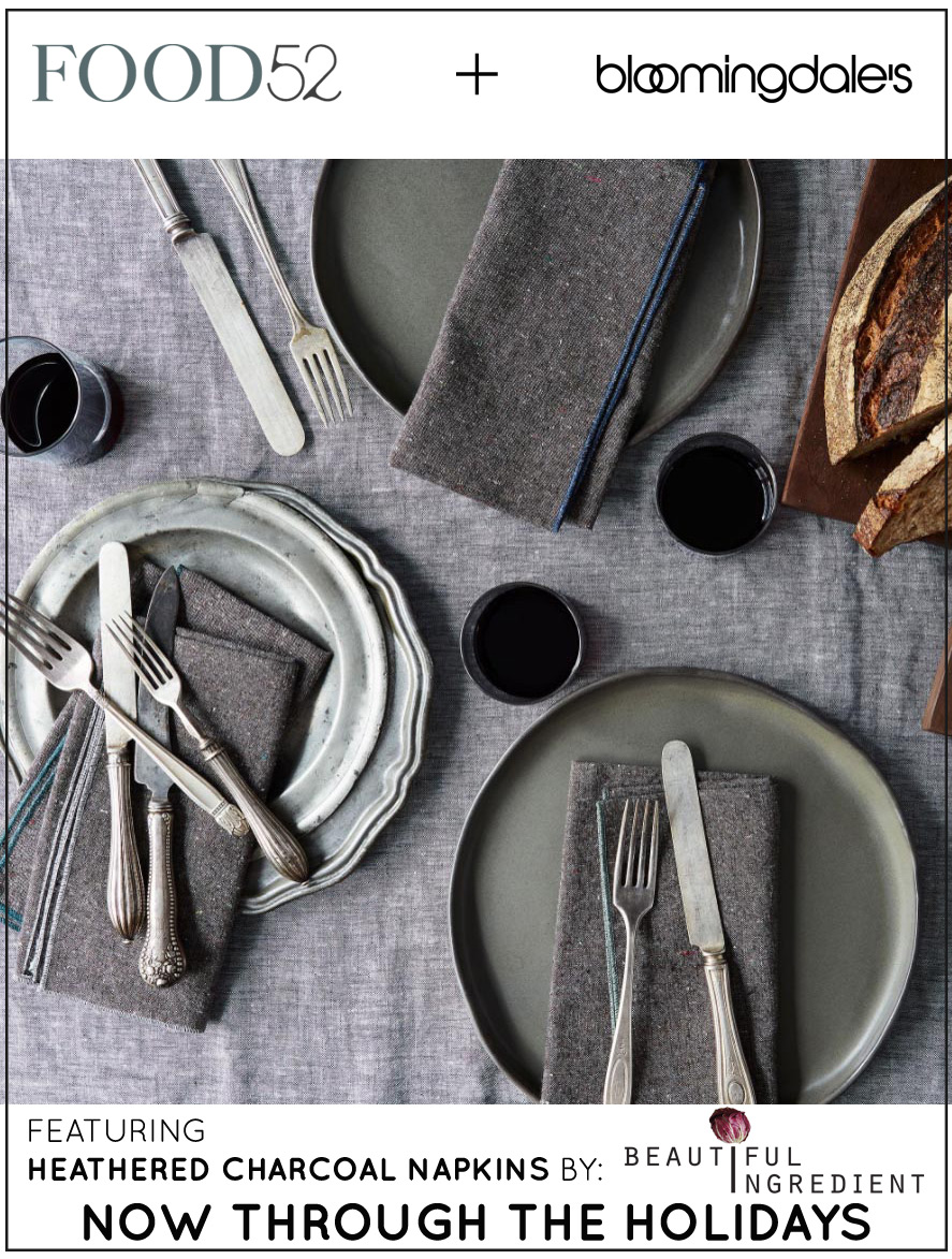 Beautiful Ingredient napkins now at Bloomingdale's!