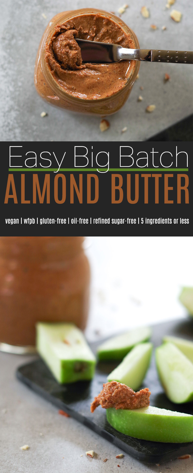 Easy Big Batch Almond Butter, by Beautiful Ingredient