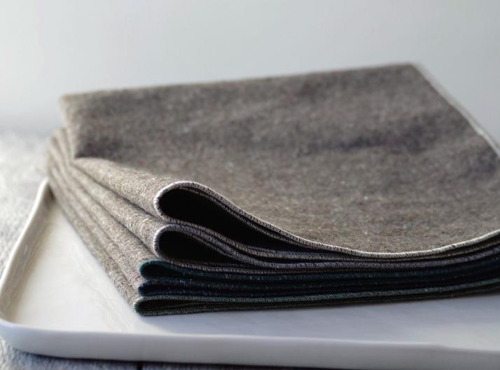 heathered Granite napkins by beautiful ingredient
