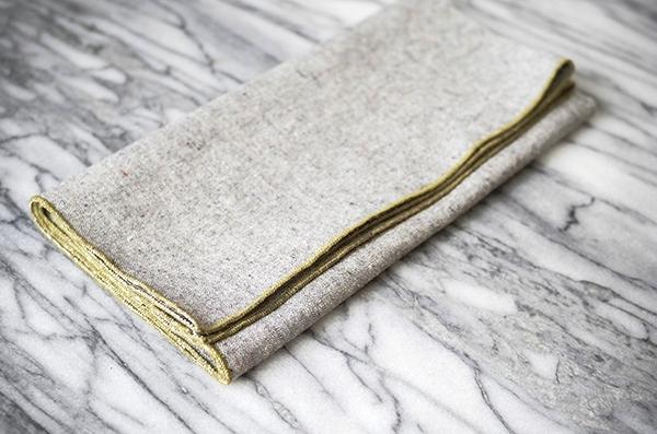 heathered grey napkins by beautiful ingredient