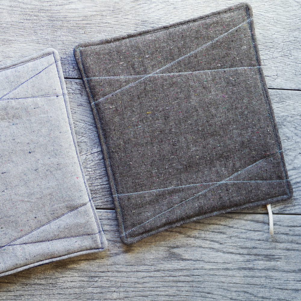 heathered potholders by beautiful ingredient