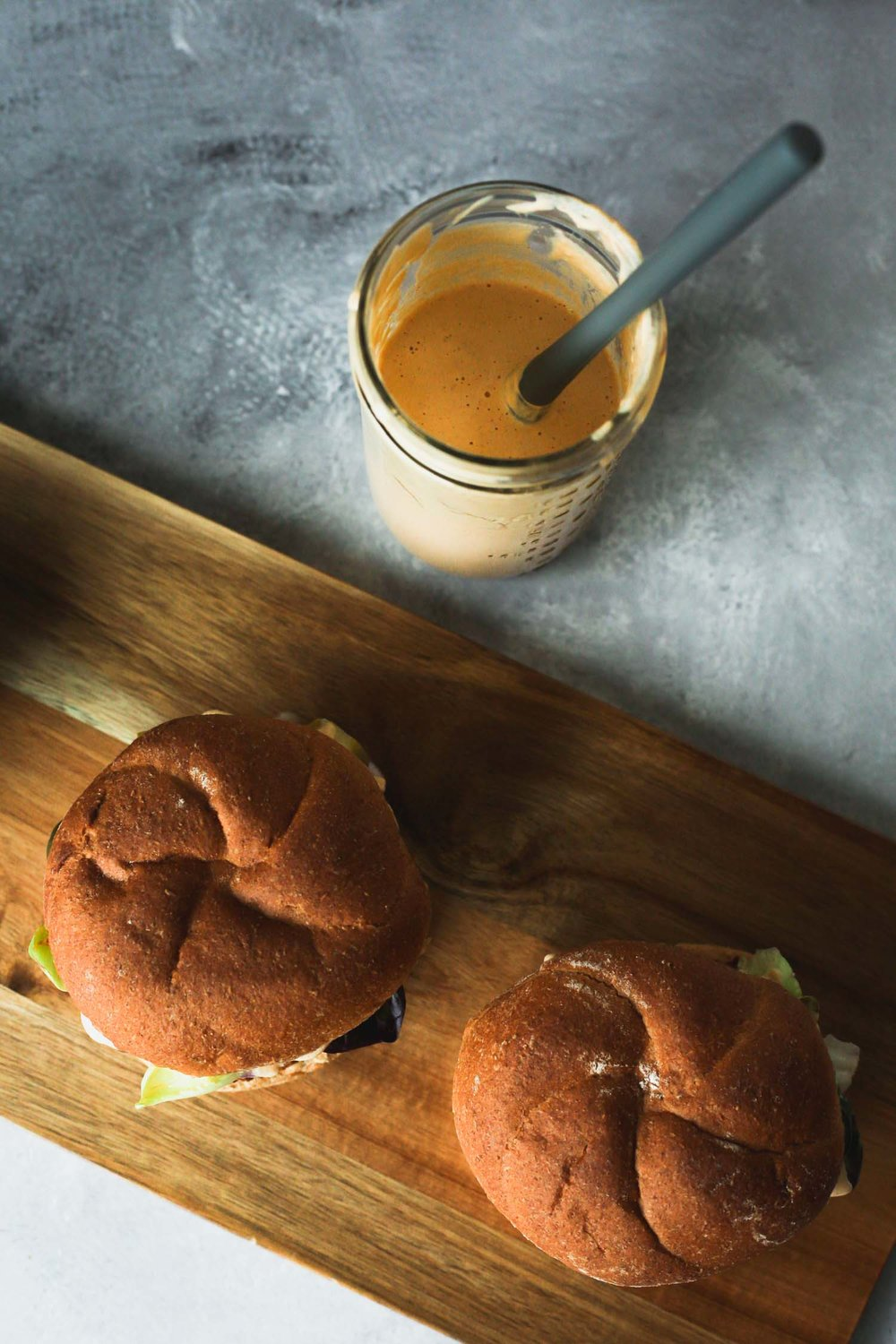 Smoky Tangy Cream from the Vegan Burgers and Burritos cookbook by Sophia DeSantos, Photo by Kari of Beautiful ingredient