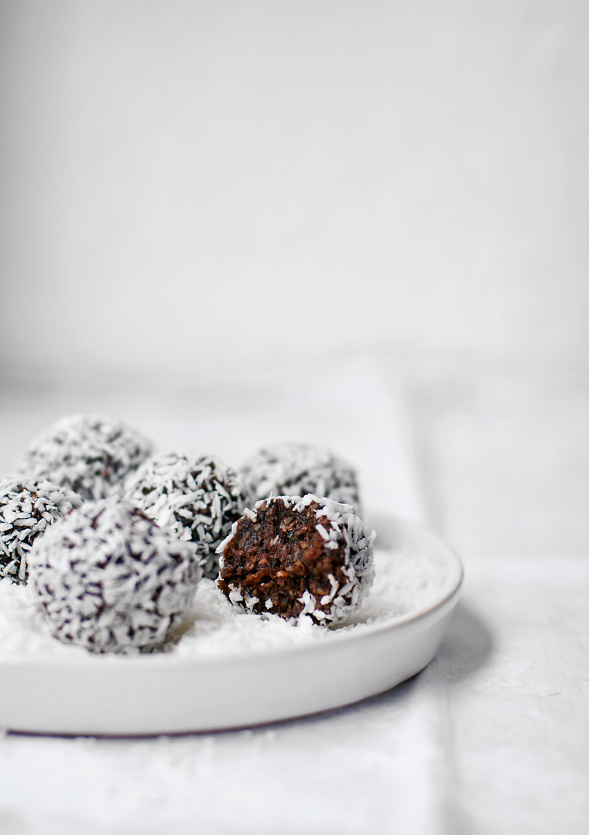 Chocolate Coconut Bliss Balls, GF Vegan | Occasionally Eggs