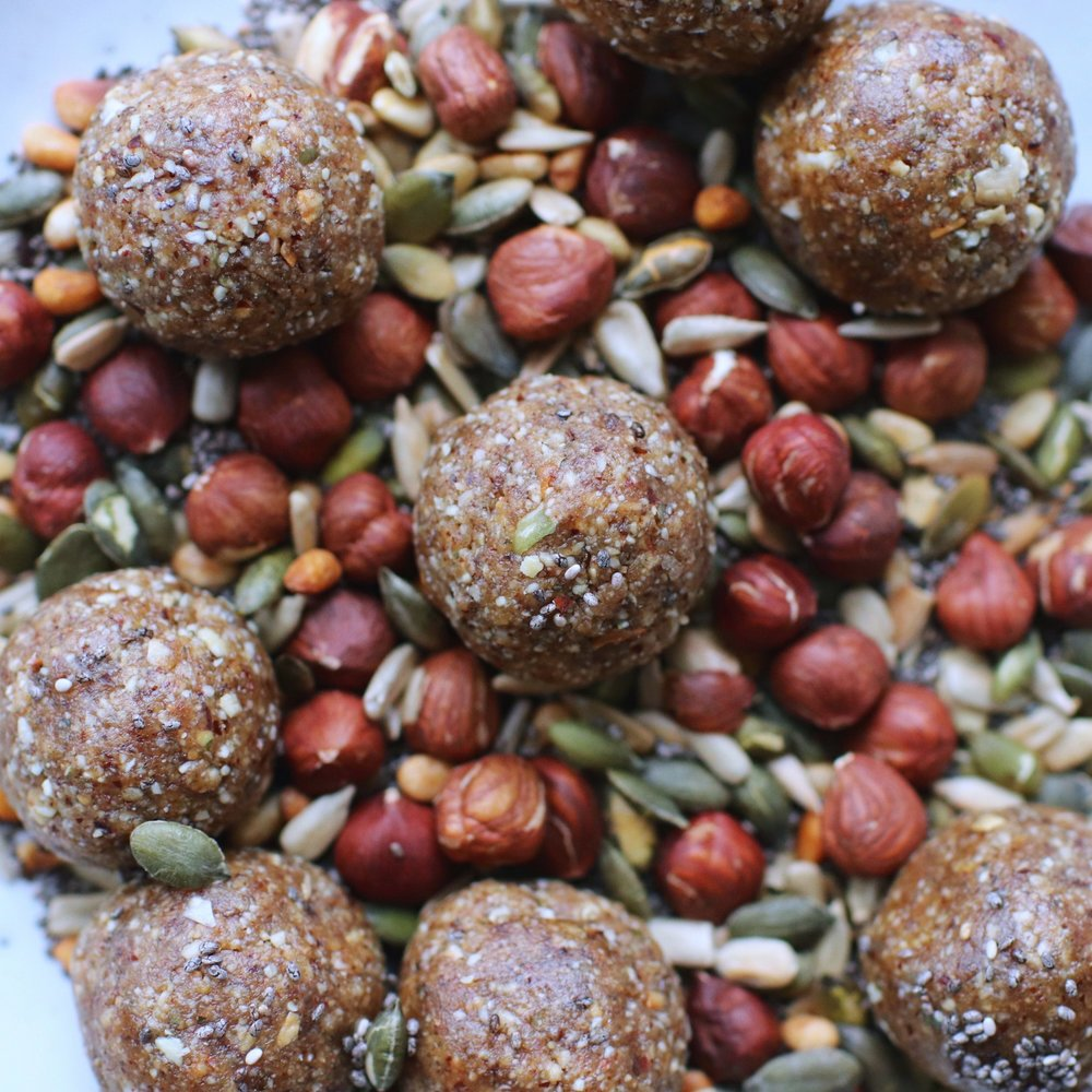 Post Workout Protein Snack Balls, GF Vegan | A Million Miles
