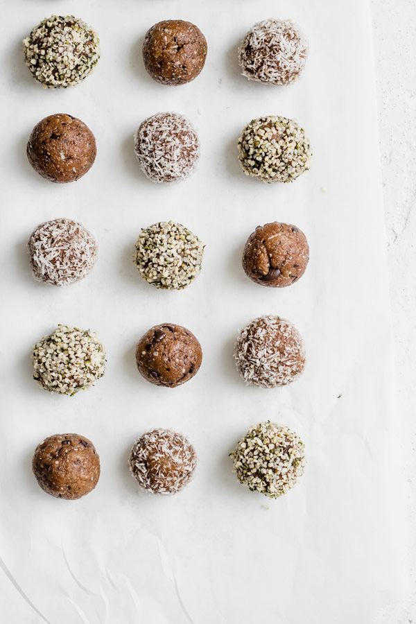 No-Bake Almond Butter Energy Bites, GF Vegan | Choosing Chia