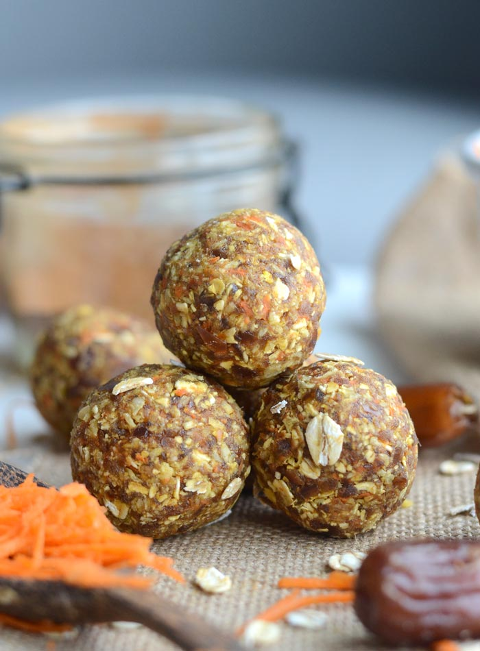 Carrot Cake Energy Balls, GF Vegan | Running on Real Food