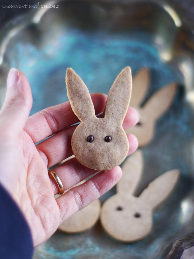Cinnamon Bunny Cookies by Audrey of Unconventional Baker