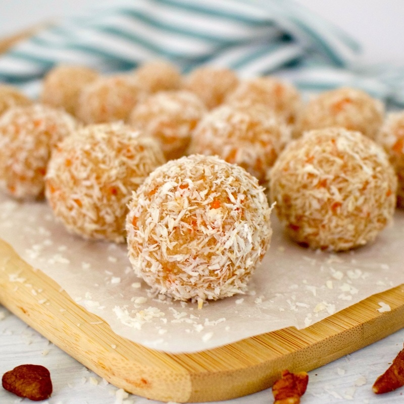 Healthy Carrot Cake Bites by Annie of Vegannie