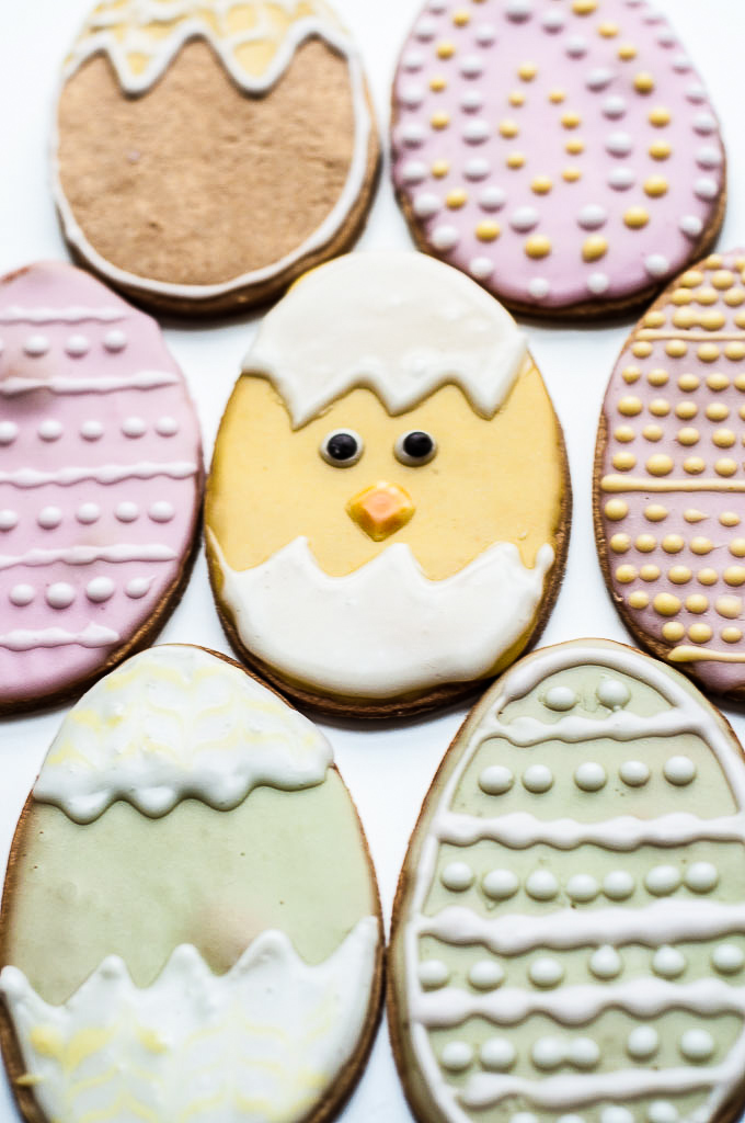 Easter Cookies with Naturally Colored Icing by Vanessa of Vegan Family Recipes