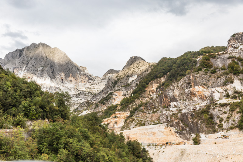 Carrara, Italy, where we toured a marble cave and learned about how marble is harvested. Photo by Kari | Beautiful Ingredient.