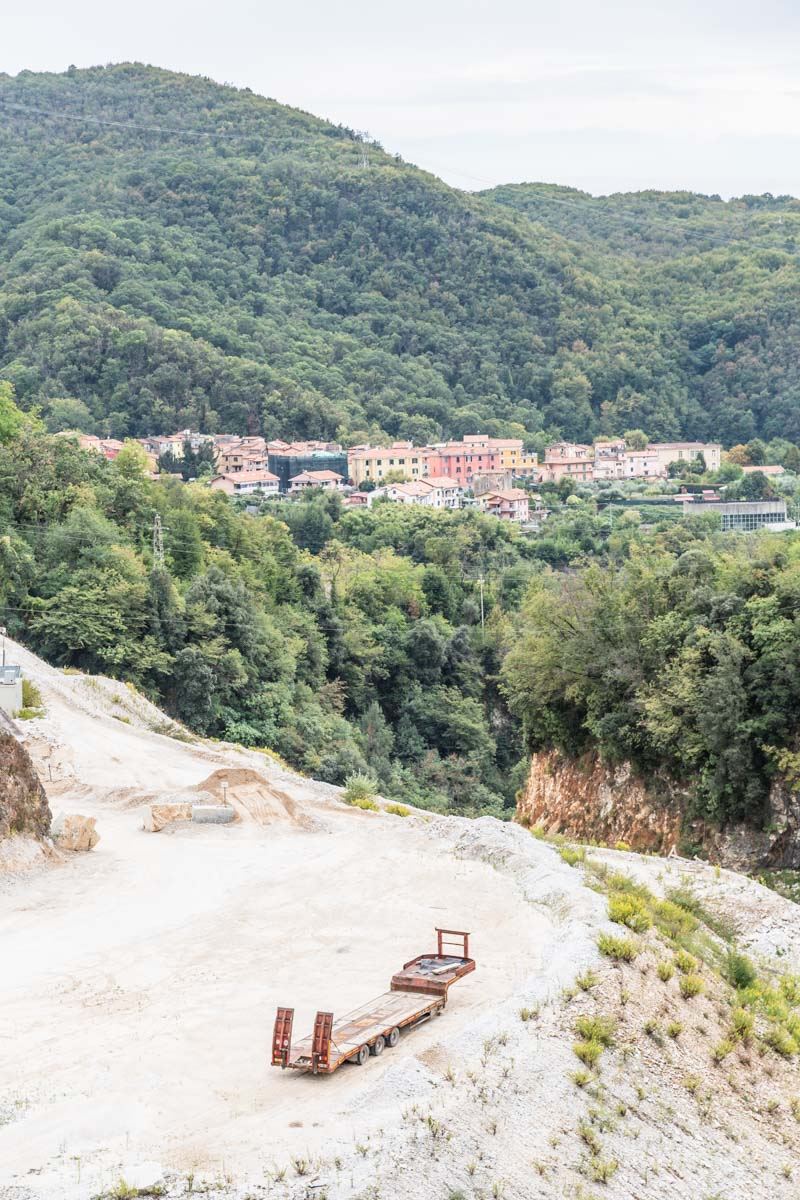 Carrara, Italy: The roads were even made of crushed marble! Photo by Kari | Beautiful Ingredient.