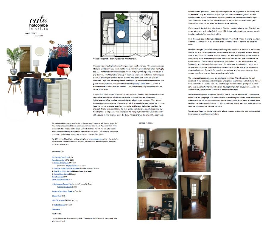 Sample Office/Guest Room Design Plan