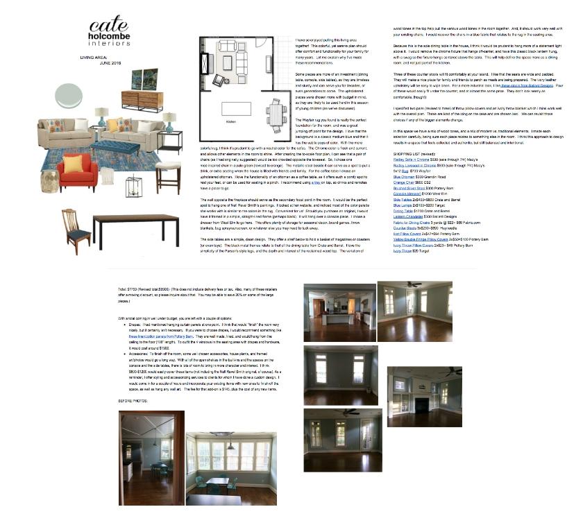 Sample Family Room Design Plan
