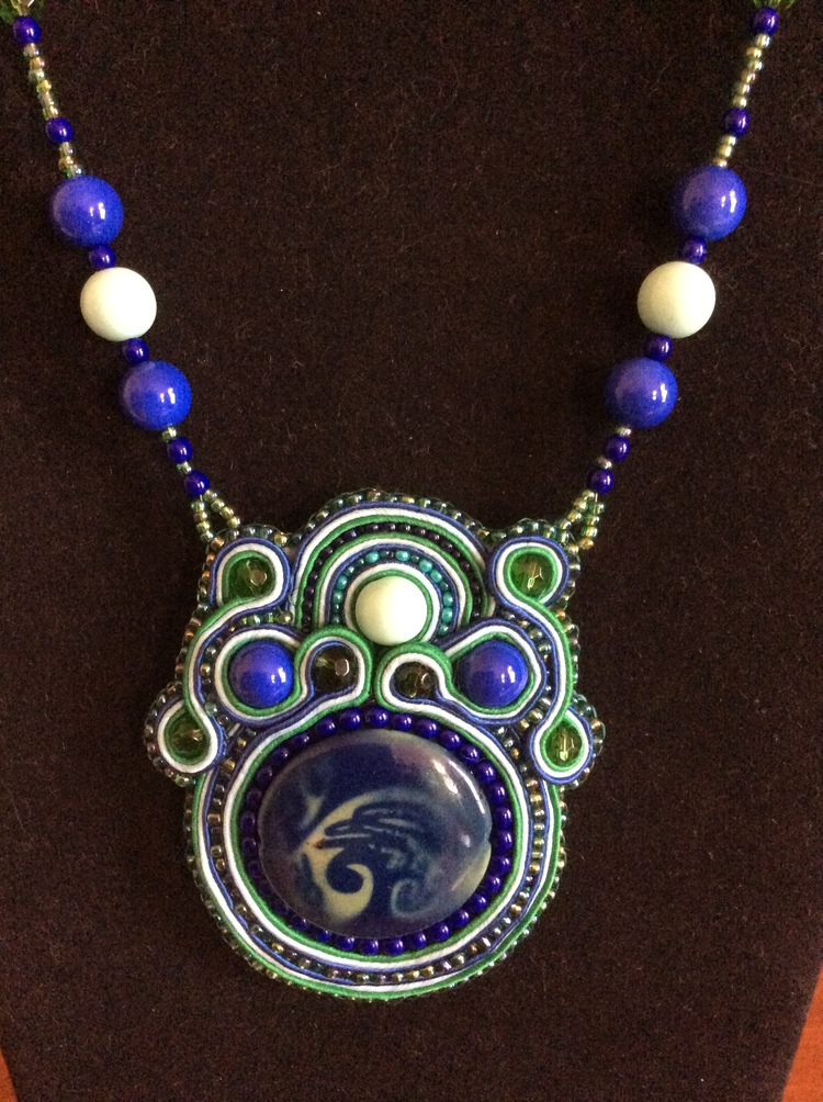 Soutache pendant with beaded necklace wired up jewels soutache pendant with beaded necklace aloadofball Image collections