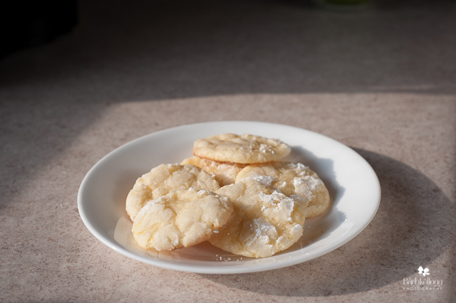 Lemon Cookies made with white flour — definitely better