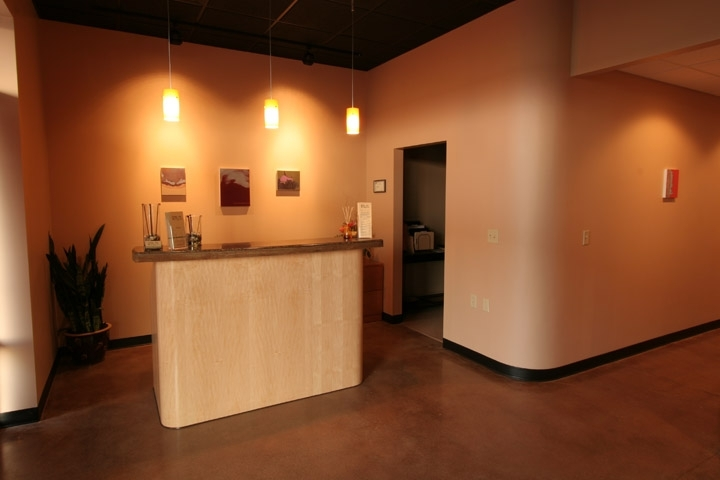 Lobby of Quick Fix Massage, St. Cloud, MN