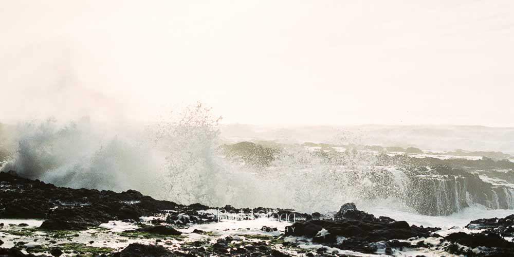 Crashing Waves , central coast of Oregon, by Barb Kellogg. This and more images taken with film available in the  Shop .