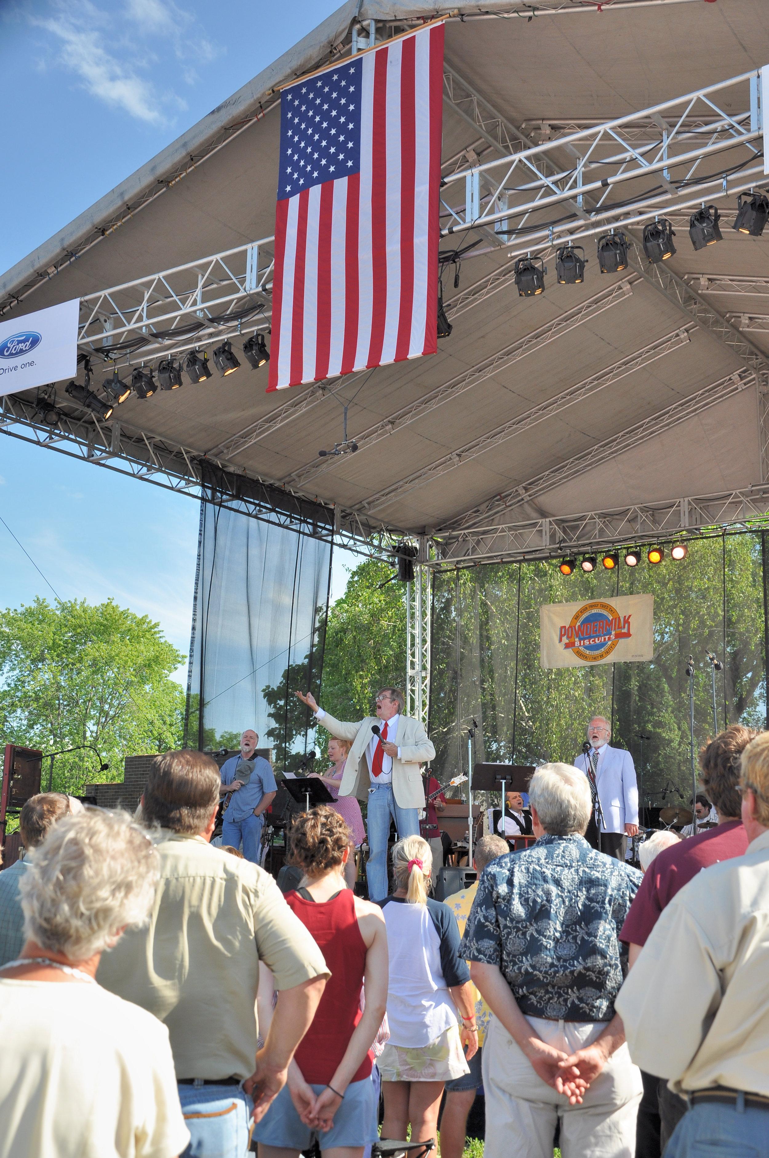 Garrison Keillor, Prairie Home Companion live radio broadcast from Avon, MN