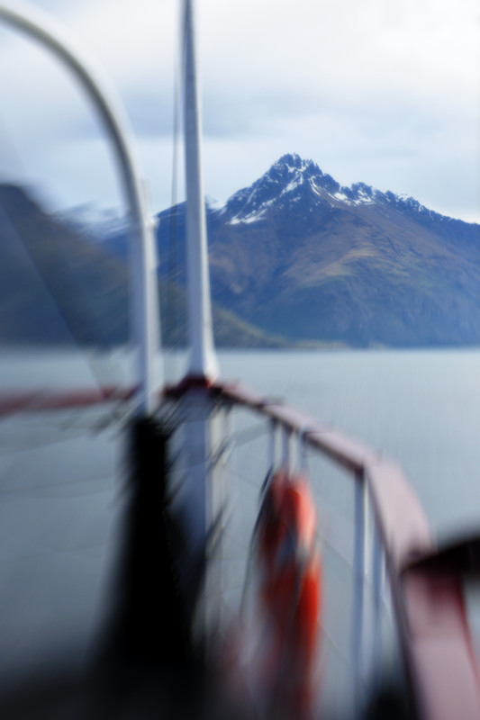 On a steamboat across lake in Queenstown, NZ