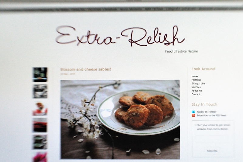 photo of home page for Extra-Relish