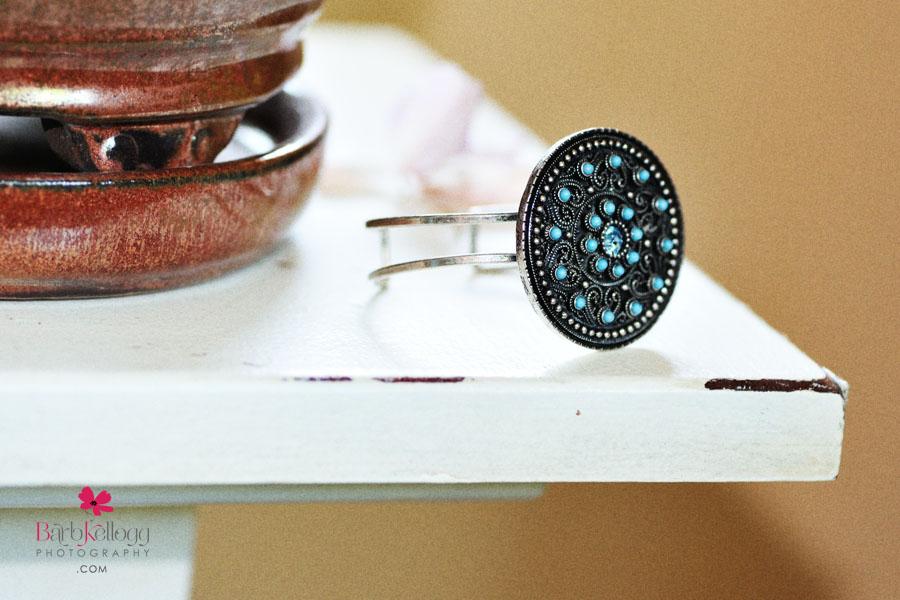 bracelet on table
