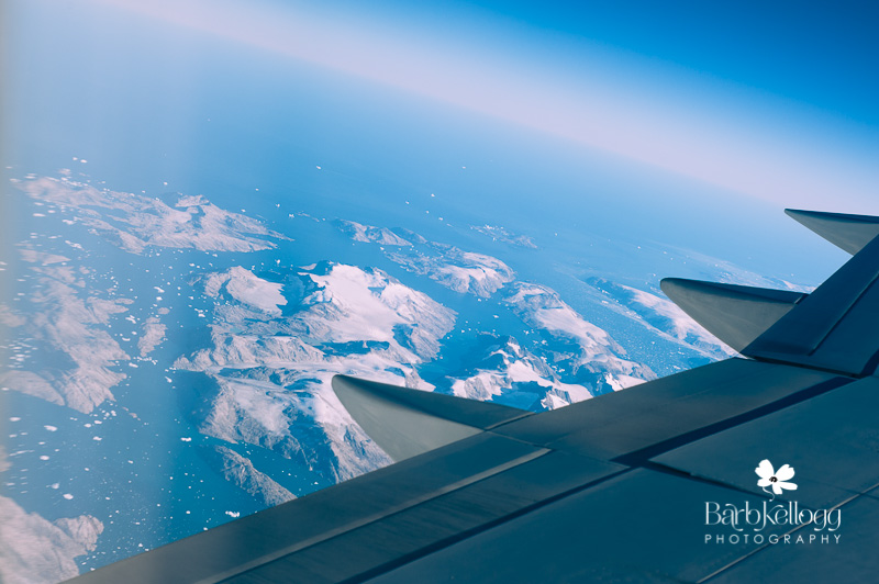 view from plane of Greenland