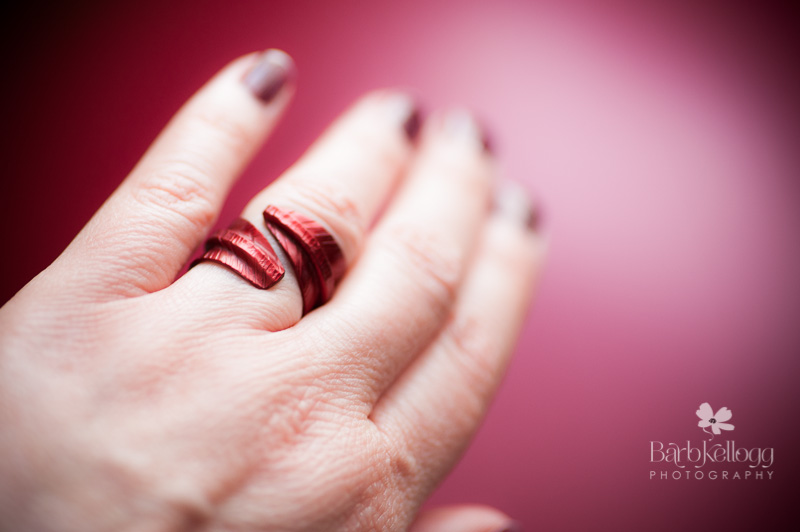 Red leaf ring by Handmade by Lorraine