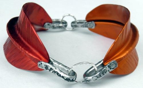 Leaf Bracelet by Handmade by Lorraine (photo by Lorraine Allan)