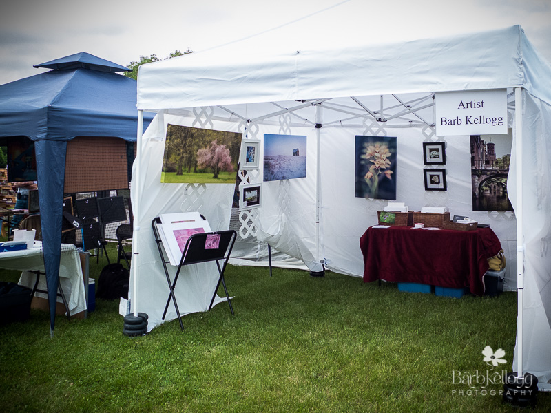 Outside view of art fair tent