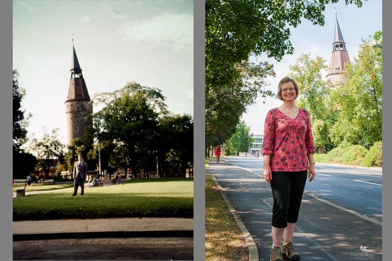 Kitzingen, Germany, 50s and Today