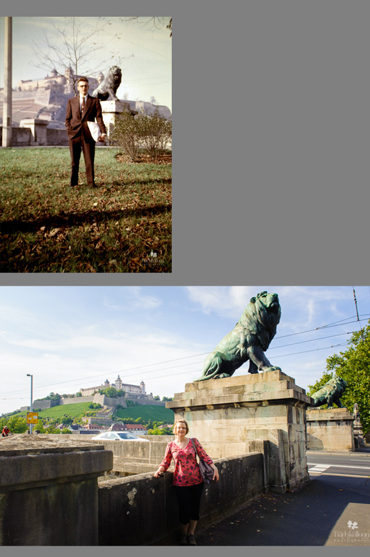 Wurzburg, Germany, 50s and Today
