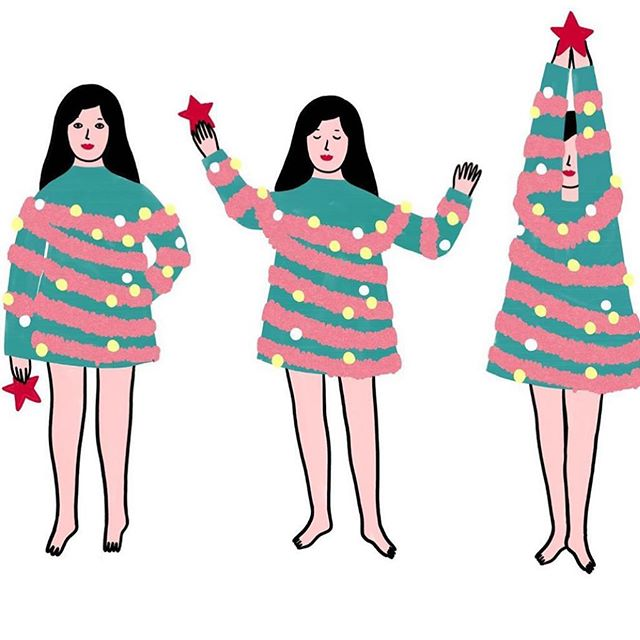 Happy Holidays to all! 🎄🎄 (Art by @lorrainesorlet )