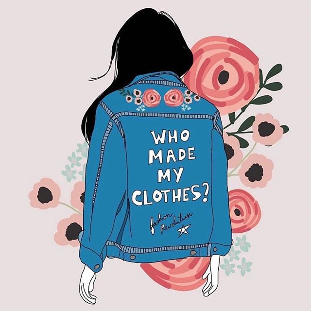 Hope everyone had a good @fash_rev week - remember to always ask - who made my clothes? (Illustration - @thresca )